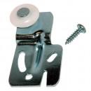 #2000- 1/4 in. Milled Steel and Nylon Offset Closet Door Hanger