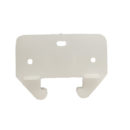 #420- 1- 3/16 in. White Plastic Drawer Track Guide