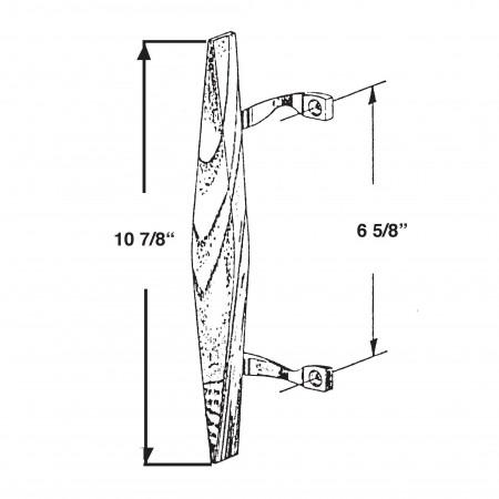 449 Wood Sliding Glass Door Handle Barton Kramer Inc