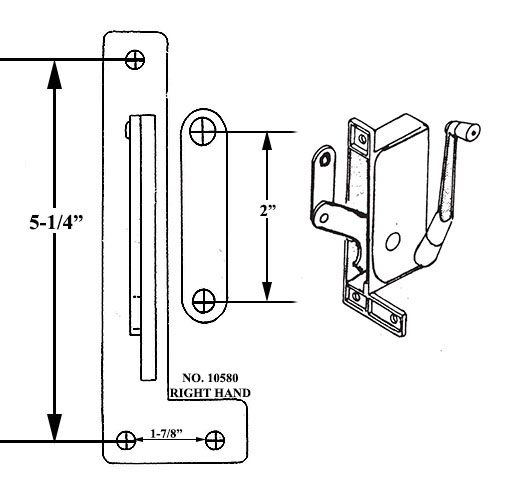 10580 Right Hand Awning Window Operator For Window